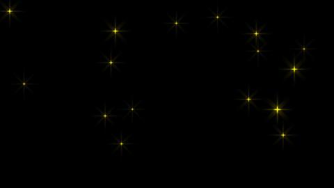 きらきら星がゆっくりと踊った、ループ素材:黄色(アルファを含む)... 動画素材, ムービー映像素材