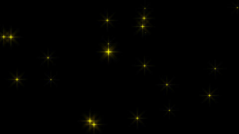 Twinkle Star danced slowly,loop material :Yellow(including alpha) Animación