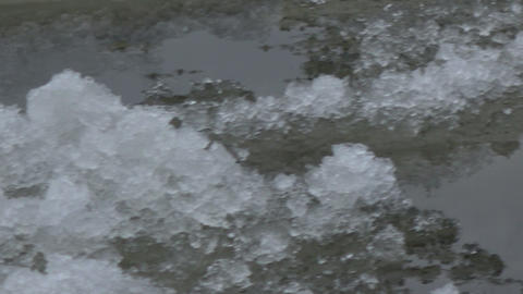 Ice drifting on river in winter Footage