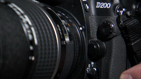 Extreme close up of a lens being attached to a camera Footage