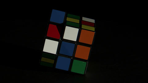 Rubik's Cube spinning Live Action
