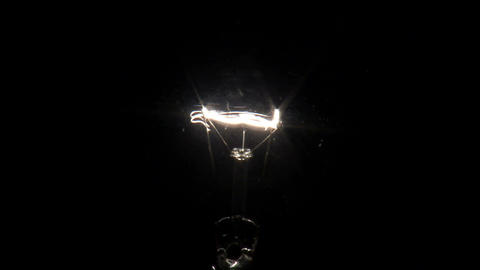 Light bulb turning on then off Live Action