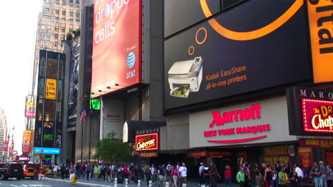 Panorama of Times Square in New York City Footage