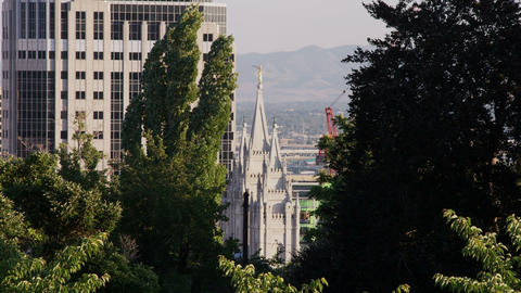 Temple of the Church of Jesus Christ of Latter-Day Saints in Salt Lake City Footage