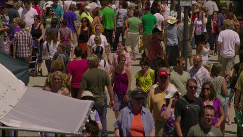 Clip of a farmer's market in Salt Lake City Utah Footage