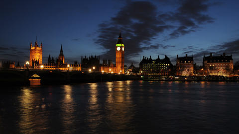 Time-lapse of the Palace of Westminster in London Footage