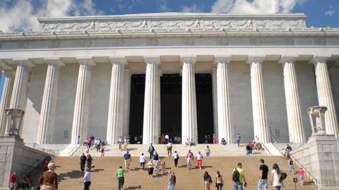 Time-lapse of the Lincoln Memorial in Washington, D.C Footage
