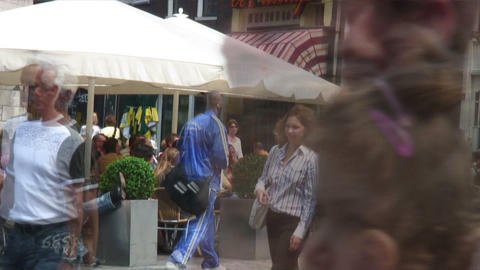 Time-lapse of cafe tables in Amsterdam Footage
