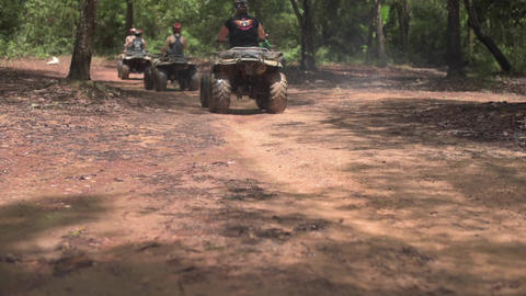ATV riding in the forest Footage