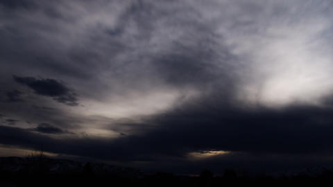 Timelapse shot of blue and grey cloudscape Footage