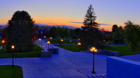 Time-lapse shot of the grounds of the Utah capitol Footage