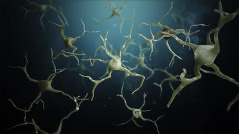 Loop Neuron cells connections world Stock Video Footage