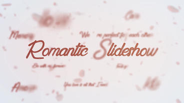 Romantic elegant brush slideshow After Effects Template