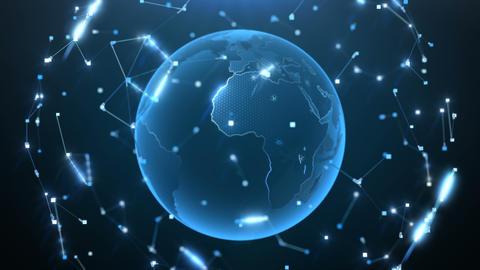 Rotating Globe Background Animation