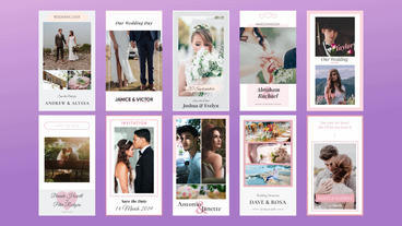 Wedding Instagram Stories Motion Graphics Template