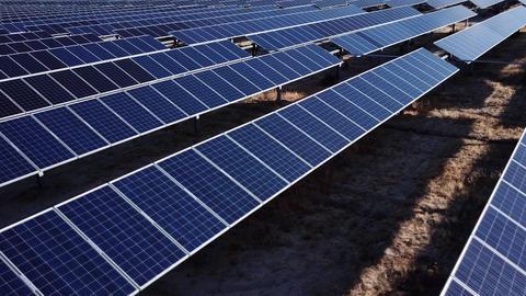 Aerial Shot Of Solar Panels ビデオ