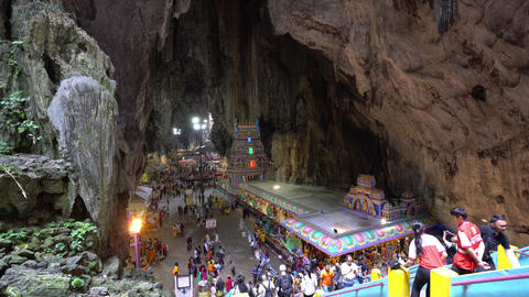 a view of Batu Caves in Kuala Lumpur ビデオ