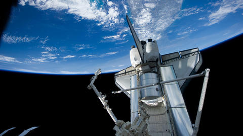 Fast Time lapse of the planet Earth from the Space International Station and Animation