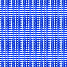 Vector seamless pattern with fish. Blue fish on white background ベクター