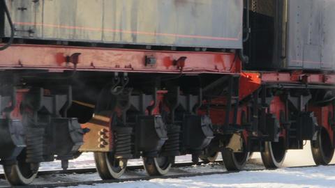 smoking steam locomotive Live Action