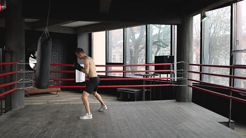 Man Having Boxing Training Live Action