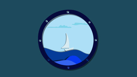 sea travel animation Animation