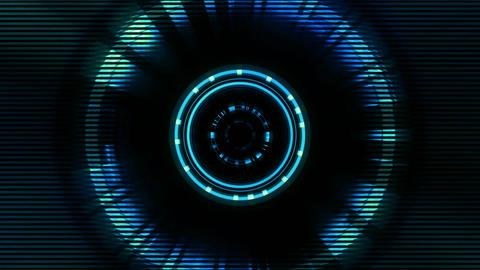 BG Tech Circle Blue 01 Animation