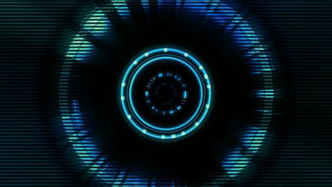 BG Tech Circle Blue 01 Animation
