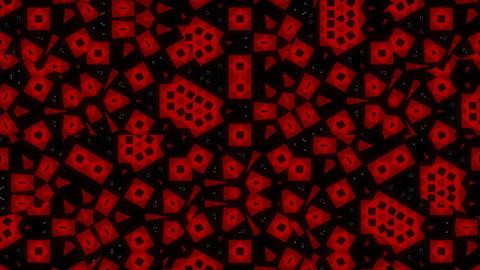 Fractal kaleidoskop red blue Animation