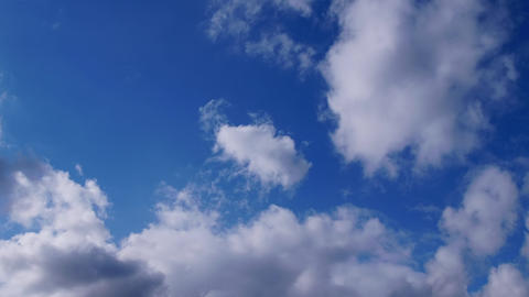 TimeLapse - Blue sky and cloud movements GIF