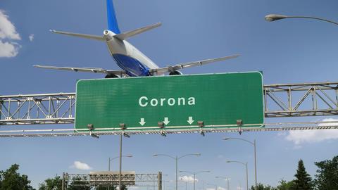 Airplane Landing Corona Footage