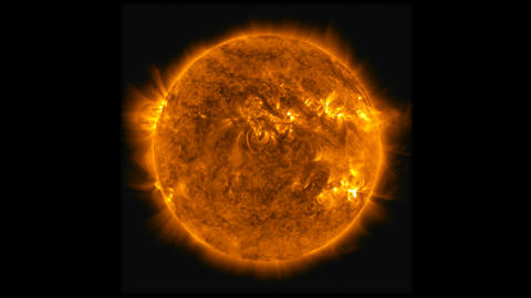 Time lapse animation of the solar flare radiation and a big eruption of plasma . Animation