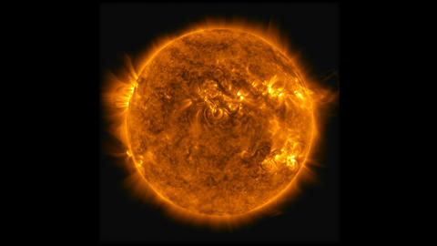 Time lapse animation of the solar flare radiation and a…, Stock Animation