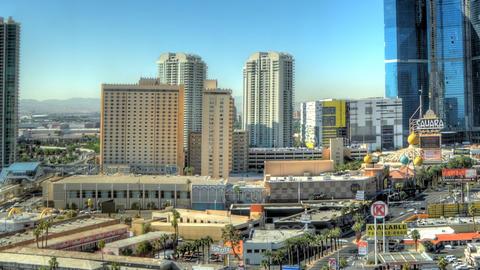Time-lapse panning shot of Las Vegas cityscape Footage