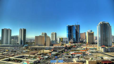 Time-lapse static shot of Las Vegas cityscape Footage
