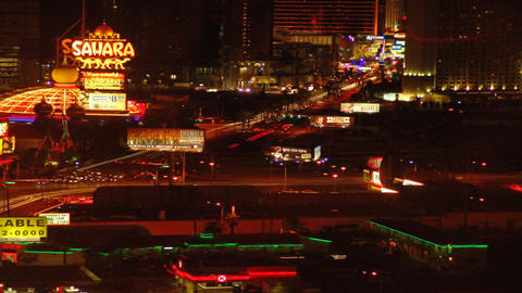 Time-lapse static shot of Las Vegas at night Footage