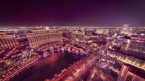 Zooming from of the top of Paris Hotel's Eiffel Tower in Las Vegas Footage
