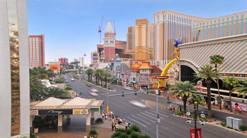 Timelapse of a Las Vegas intersection with the Casino Royale and a large McDonal Footage