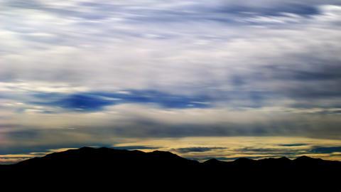 Time-lapse shot of sunset at a Utah mountain range Footage