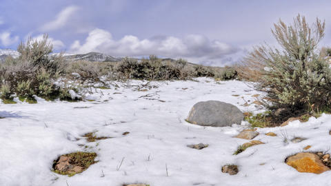Time-lapse of Utah valley as snow melts Footage