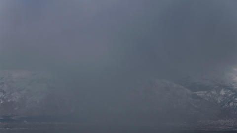 Time-lapse shot of snowstorm on Utah mountaintop Footage