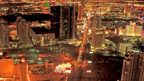 Zooming from the top of the Stratosphere Hotel in Las Vegas Footage