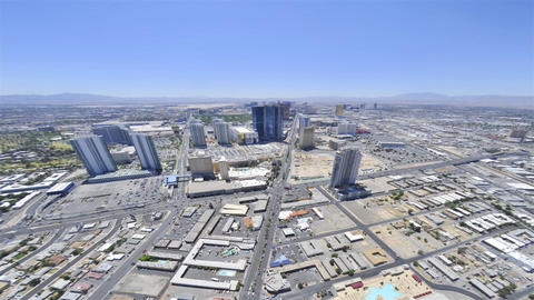 Timelapse of the Las Vegas Strip as viewed from the Stratosphere Hotel Live Action