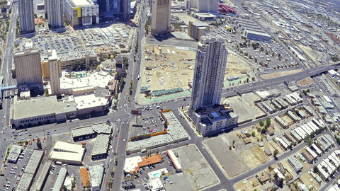 Timelapse Panning of Las Vegas from the top of the Stratosphere Hotel to the cit Live Action