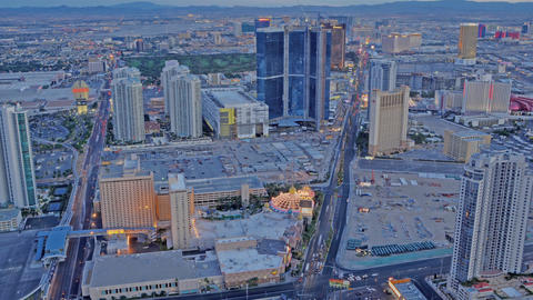 Timelapse, Panning of Las Vegas from the Stratosphere Hotel Live Action