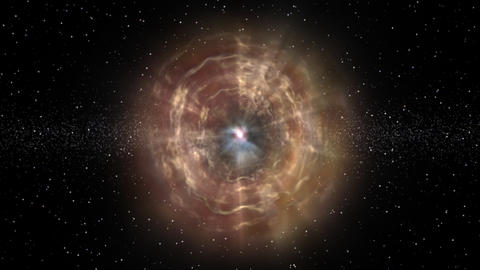 In the blackness of space a supernova explodes Footage