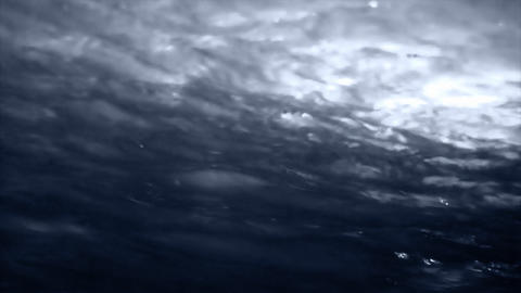 The rippling surface of dark water Footage