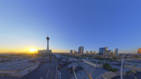 sped-up still shot of the stratosphere tower in las vegas and sorounding citysca Live Action
