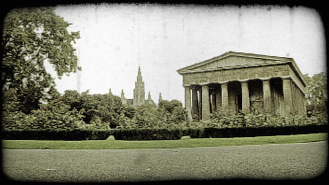 Vienna Garden and Structure 2. Vintage stylized video clip Live Action