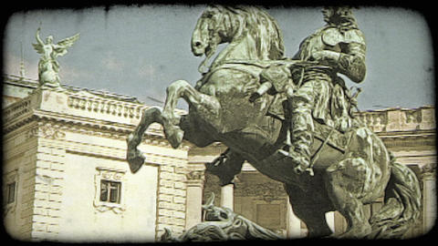 Vienna Statue 10. Vintage stylized video clip Stock Video Footage